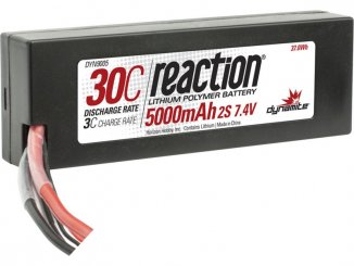 LiPol Reaction Car 7.4V 5000mAh 30C HC EC3